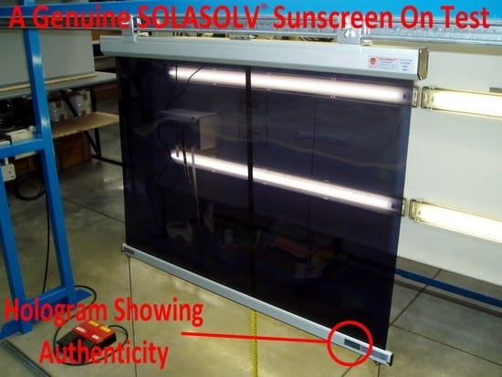 Photo - A Genuine SOLASAFE Roller Screen on Test