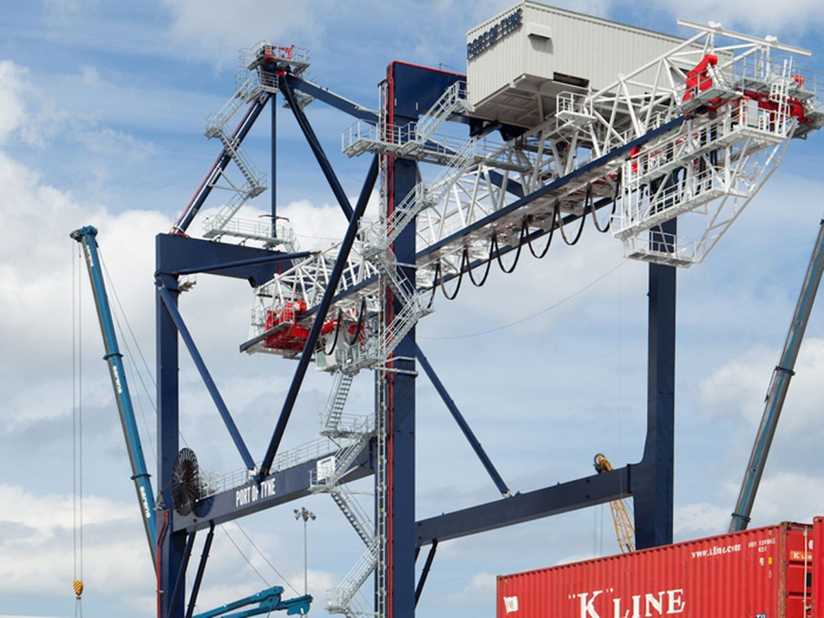 Photo - Port of Tyne Gantry Crane Cab