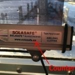 This is a picture of a counterfeit SOLASOLV screen bottom rail